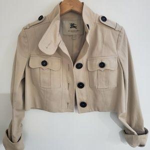 AUTHENTIC! Rare! crop Burberry utility jacket